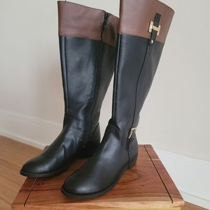 Two Tone Calf Boots Size 6.5M